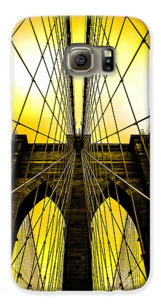 Brooklyn Bridge Yellow Galaxy S6 Case by Az Jackson