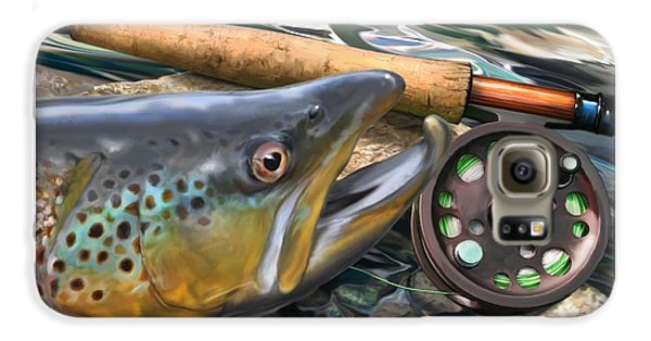 Brown Trout Sunset Galaxy S6 Case by Craig Tinder