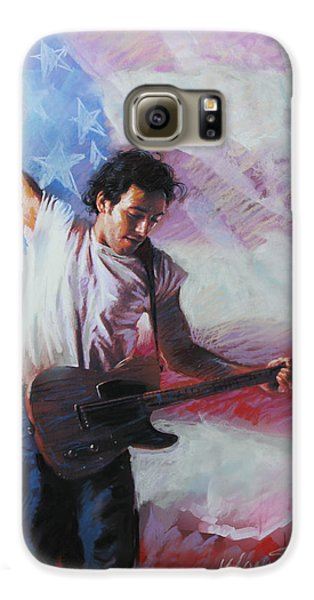 Bruce Springsteen The Boss Galaxy S6 Case by Viola El