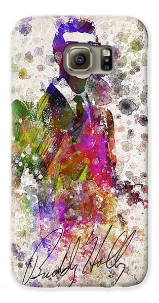 Buddy Holly In Color Galaxy S6 Case by Aged Pixel