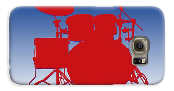 Buffalo Bills Drum Set Galaxy S6 Case by Joe Hamilton