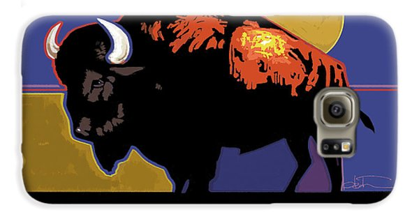 Buffalo Moon Galaxy S6 Case by R Mark Heath