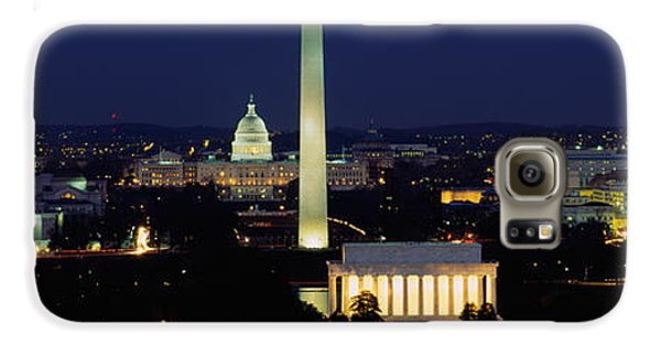 Buildings Lit Up At Night, Washington Galaxy S6 Case by Panoramic Images