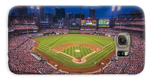 Busch Stadium St. Louis Cardinals Night Game Galaxy S6 Case by David Haskett