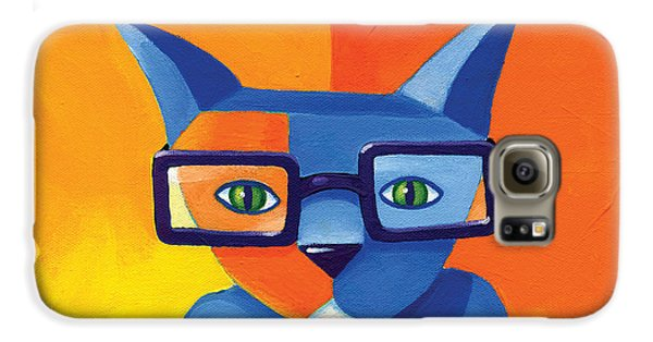 Business Cat Galaxy S6 Case by Mike Lawrence