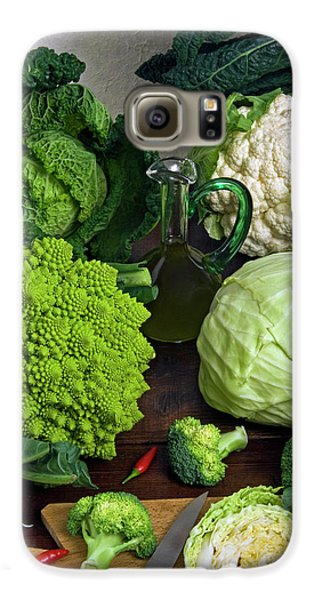 Cabbages -clockwise- Broccoli Galaxy S6 Case by Nico Tondini
