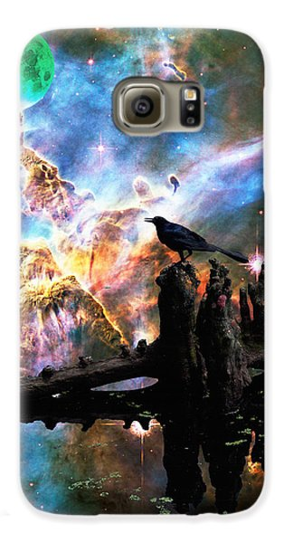 Calling The Night - Crow Art By Sharon Cummings Galaxy S6 Case by Sharon Cummings