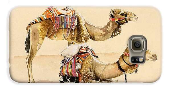 Camels From Petra Galaxy S6 Case by Alison Cooper