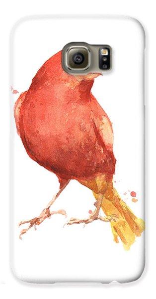 Canary Bird Galaxy S6 Case by Alison Fennell
