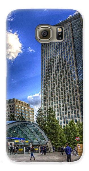 Canary Wharf Station London Galaxy S6 Case by David Pyatt