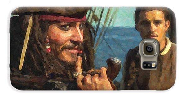 Cap. Jack Sparrow Galaxy S6 Case by Himanshu  Dubey