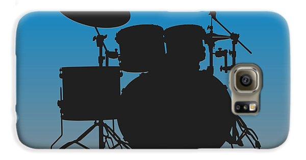 Carolina Panthers Drum Set Galaxy S6 Case by Joe Hamilton