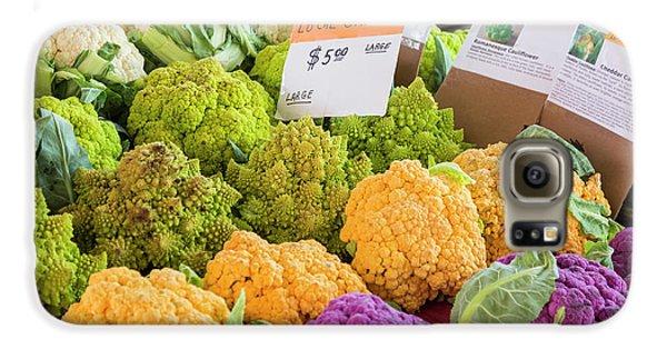 Cauliflower Market Stall Galaxy S6 Case by Jim West