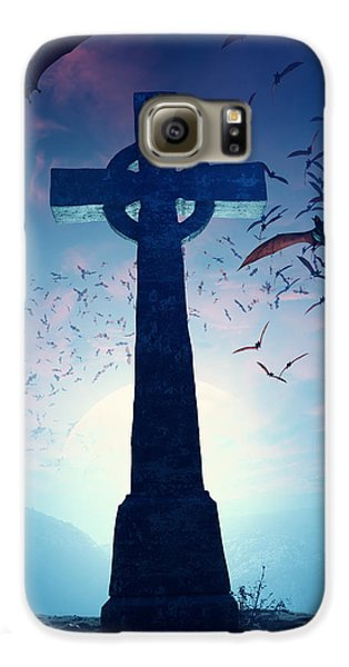 Celtic Cross With Swarm Of Bats Galaxy S6 Case by Johan Swanepoel