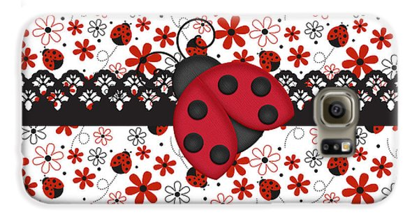 Charming Ladybugs Galaxy S6 Case by Debra  Miller