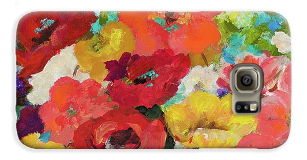 Cheerful Flowers II Galaxy S6 Case by Patricia Pinto