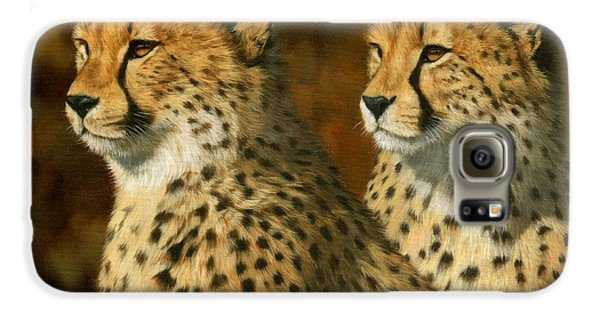 Cheetah Brothers Galaxy S6 Case by David Stribbling