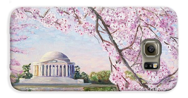 Jefferson Memorial Cherry Blossoms Galaxy S6 Case by Patty Kay Hall