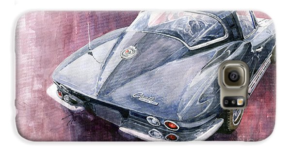 Chevrolet Corvette Sting Ray 1965 Galaxy S6 Case by Yuriy  Shevchuk