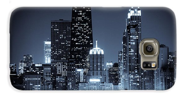 Chicago At Night With Hancock Building Galaxy S6 Case by Paul Velgos