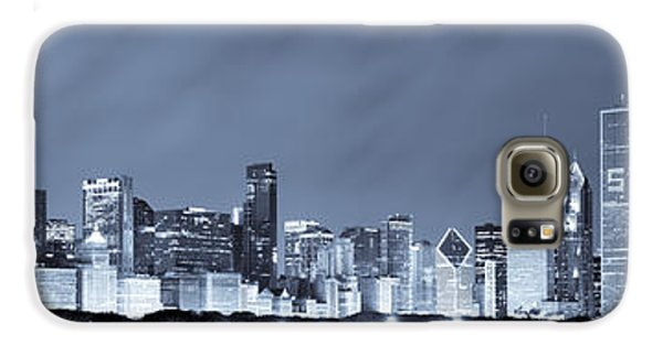 Chicago In Blue Galaxy Case by Sebastian Musial