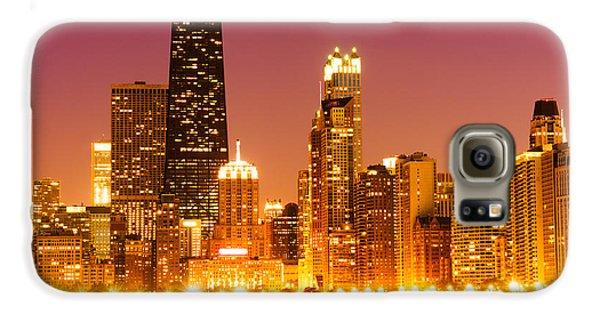 Chicago Night Skyline With John Hancock Building Galaxy S6 Case by Paul Velgos