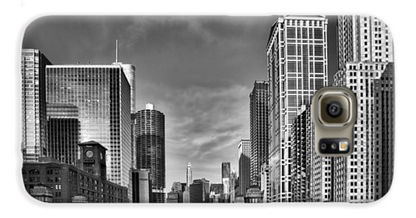Chicago River In Black And White Samsung Galaxy Case by Sebastian Musial
