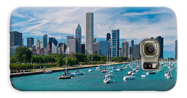 Chicago Skyline Daytime Panoramic Galaxy S6 Case by Adam Romanowicz