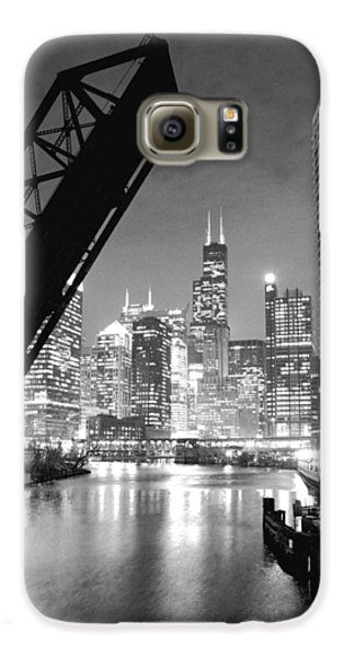 Chicago Skyline - Black And White Sears Tower Galaxy S6 Case by Horsch Gallery