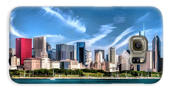 Chicago Skyline Panorama Galaxy S6 Case by Christopher Arndt