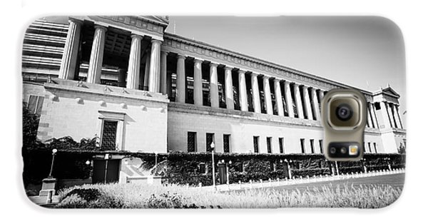 Chicago Solider Field Black And White Picture Galaxy S6 Case by Paul Velgos