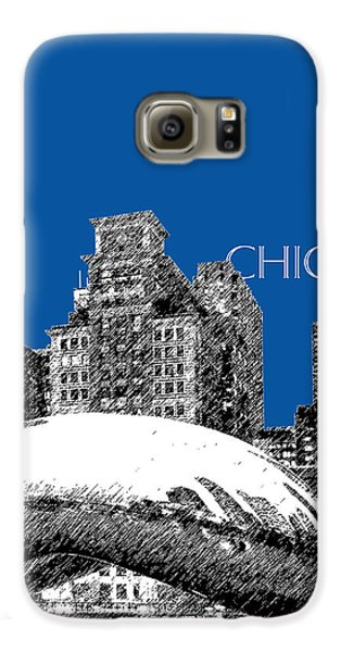 Chicago The Bean - Royal Blue Galaxy S6 Case by DB Artist