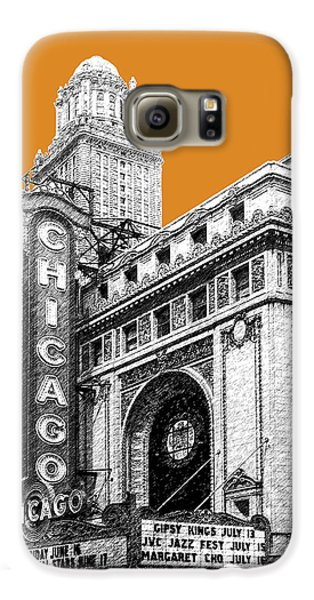 Chicago Theater - Dark Orange Galaxy S6 Case by DB Artist