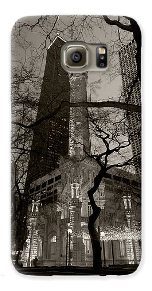 Chicago Water Tower B W Galaxy S6 Case by Steve Gadomski