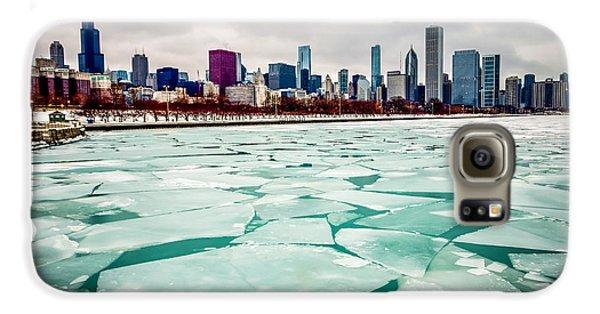 Chicago Winter Skyline Galaxy S6 Case by Paul Velgos