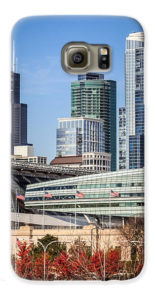 Chicago With Soldier Field And Sears Tower Galaxy S6 Case by Paul Velgos