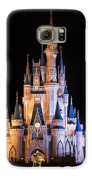 Cinderella's Castle In Magic Kingdom Galaxy S6 Case by Adam Romanowicz