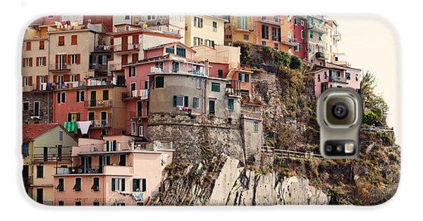 Cinque Terre Mediterranean Coastline Galaxy S6 Case by Kim Fearheiley