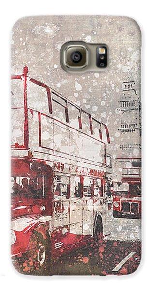 City-art London Red Buses II Galaxy S6 Case by Melanie Viola