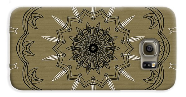 Coffee Flowers 3 Olive Ornate Medallion Samsung Galaxy Case by Angelina Vick