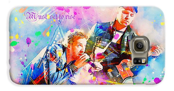 Coldplay Lyrics Galaxy S6 Case by Rosalina Atanasova
