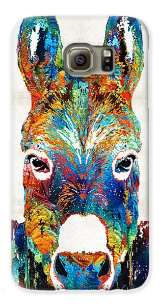 Colorful Donkey Art - Mr. Personality - By Sharon Cummings Galaxy S6 Case by Sharon Cummings