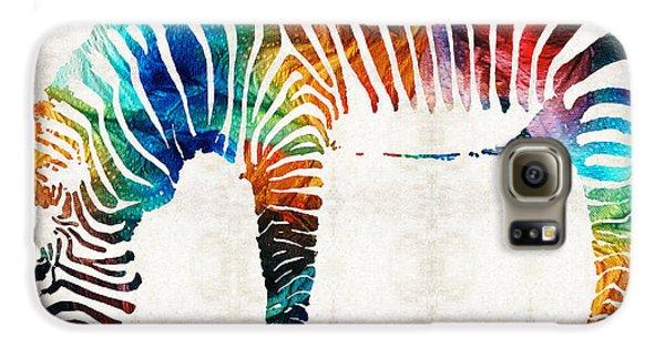 Colorful Zebra Art By Sharon Cummings Galaxy S6 Case by Sharon Cummings