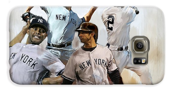 Core  Derek Jeter Mariano Rivera  Andy Pettitte Jorge Posada Galaxy S6 Case by Iconic Images Art Gallery David Pucciarelli