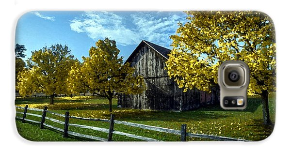 Country Landscape Painting Galaxy S6 Case by Marvin Blaine