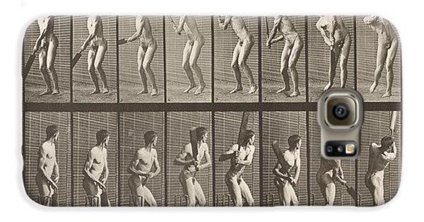 Cricketer Galaxy S6 Case by Eadweard Muybridge