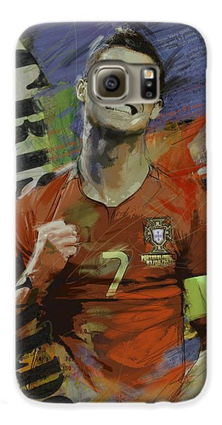Cristiano Ronaldo - B Galaxy S6 Case by Corporate Art Task Force