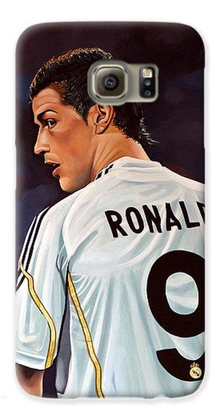 Cristiano Ronaldo Galaxy S6 Case by Paul Meijering