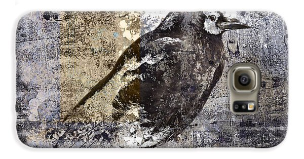 Crow Number 84 Galaxy S6 Case by Carol Leigh
