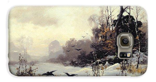 Crows In A Winter Landscape Galaxy S6 Case by Karl Kustner